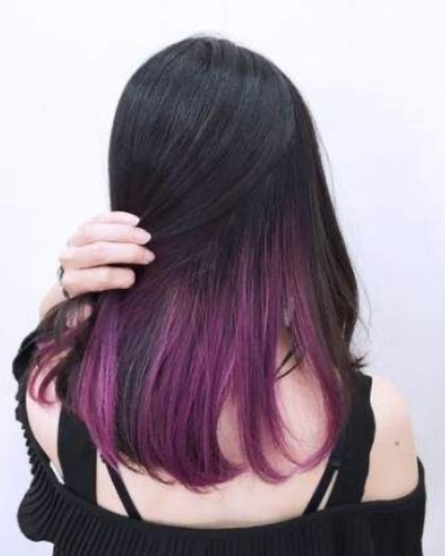 Deep Magenta Rainbow Hair